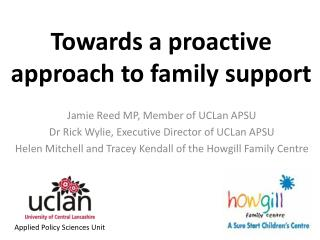 Towards a proactive approach to family support