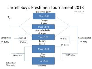 Jarrell  Boy's Freshmen  Tournament 2013
