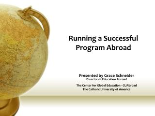 Pre-departure Orientation Program
