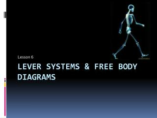 Lever Systems & Free Body Diagrams