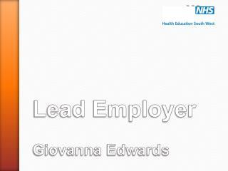Lead Employer Giovanna Edwards