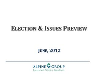 Election & Issues Preview