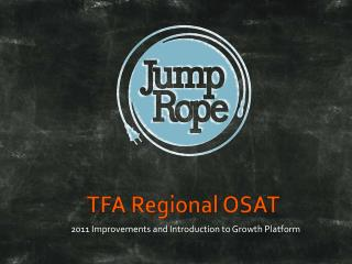 TFA Regional OSAT