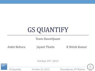 GS Quantify