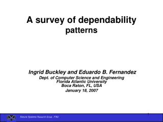 A survey of dependability patterns