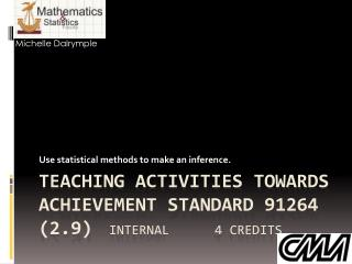 Teaching activities towards Achievement Standard 91264 (2.9) 	internal 		4 credits