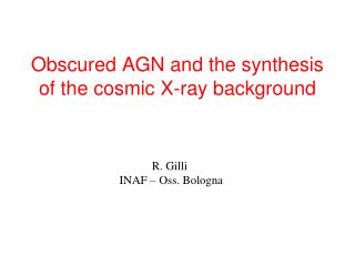 Obscured AGN and the synthesis of the cosmic X-ray background