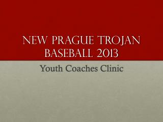 New Prague Trojan Baseball 2013