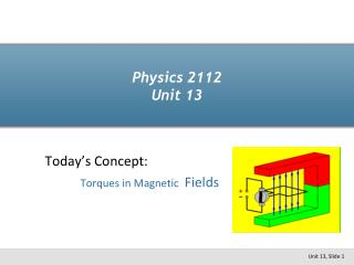 Physics 2112 Unit 13