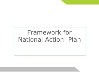 Framework for National Action Plan