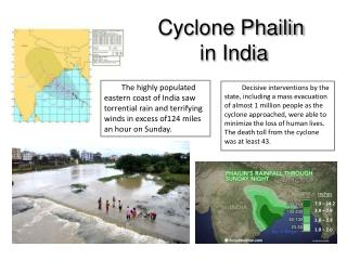 Cyclone  Phailin  in India