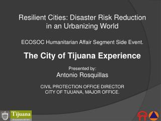 Resilient Cities: Disaster Risk Reduction in an Urbanizing World