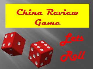 China Review Game