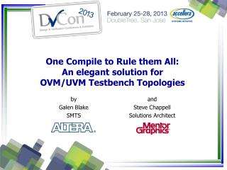 One Compile to Rule them All: An elegant solution for  OVM/UVM Testbench Topologies