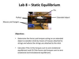 Lab 8 – Static Equilibrium