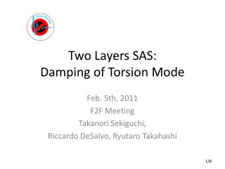 Two Layers SAS: Damping of Torsion Mode