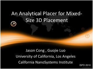 An Analytical Placer for Mixed-Size 3D Placement