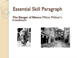 Essential Skill Paragraph