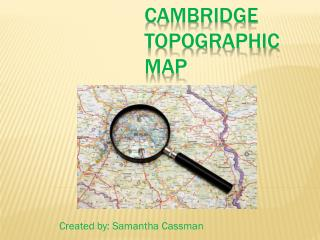 Cambridge topographic map