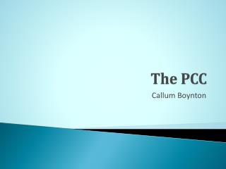 The PCC