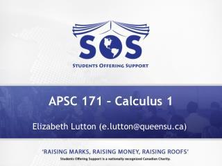APSC 171 – Calculus 1