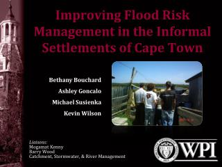 Improving Flood Risk Management in the Informal Settlements of Cape Town