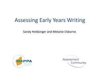 Assessing Early Years Writing