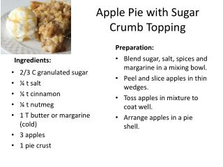 Apple Pie with Sugar Crumb Topping