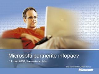Microsofti partnerite infop�ev