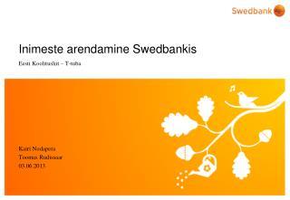 Inimeste arendamine Swedbankis