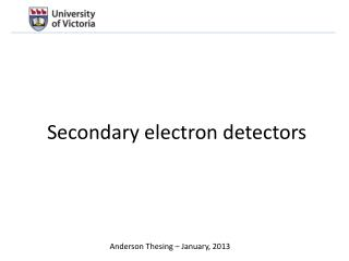 Secondary electron detectors