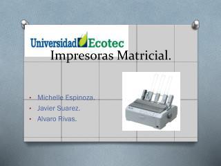 Impresoras Matricial.