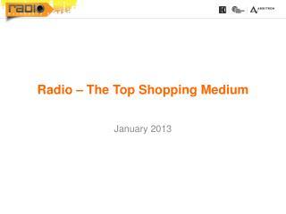 Radio – The Top Shopping Medium