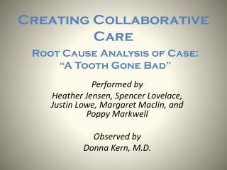 Creating Collaborative Care