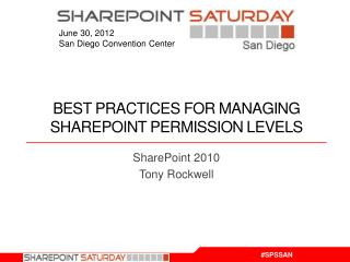 Best Practices for managing SharePoint permission Levels