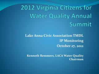 2012 Virginia Citizens for Water Quality Annual Summit