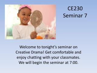 CE230 Seminar  7