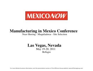 Mexico's Auto Parts Industry