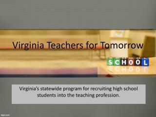 Virginia Teachers for Tomorrow