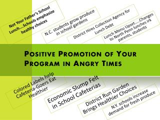 Positive Promotion of Your Program in Angry Times