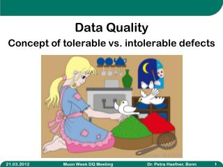 Data Quality C oncept of tolerable vs. intolerable defects