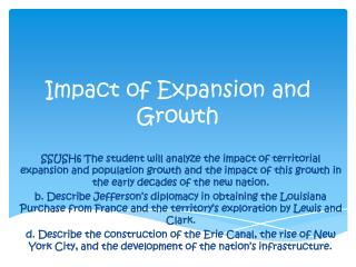 Impact of Expansion and Growth