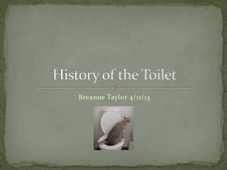 History of the Toilet