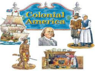 Differences emerge among the English colonies.