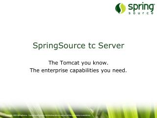 SpringSource tc Server