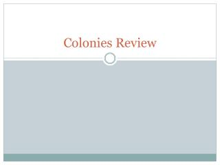 Colonies Review