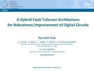 A Hybrid Fault Tolerant Architecture  for Robustness Improvement of Digital Circuits