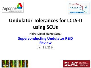 Undulator Tolerances for LCLS-II using SCUs