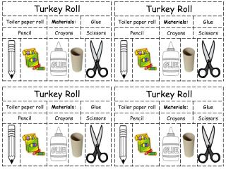 turkey craft instructions