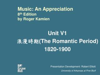 Music: An Appreciation 8th Edition